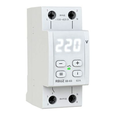 Реле контроля напряжения RBUZ D2-63 однофазное