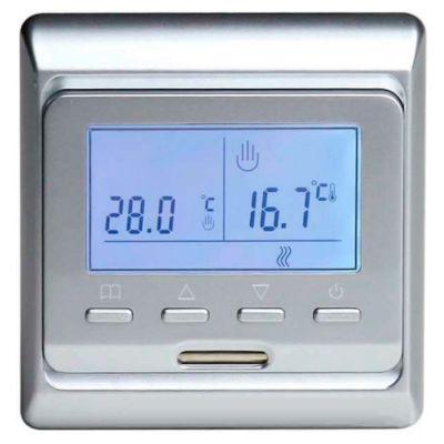 Терморегулятор теплого пола E51 серебро