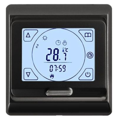 Терморегулятор теплого пола E91 черный