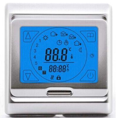Терморегулятор теплого пола E91 серебро